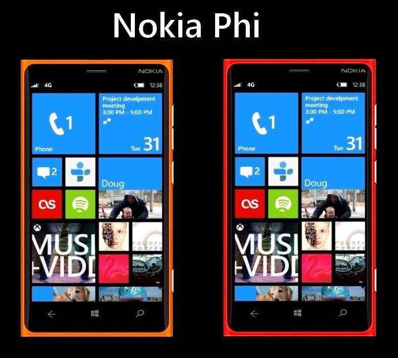 Nokia Phi-Render in sechs verschiedenen Farben