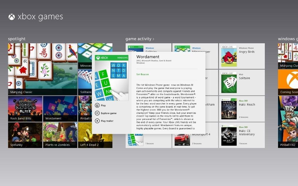 Xbox Live für Windows 8