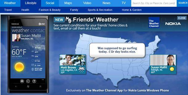 nokias exklusive weather channel app jetzt auch in