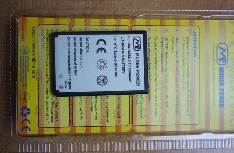 Review: Mugen Power 1800 mAh Akku für das HTC 7 Mozart