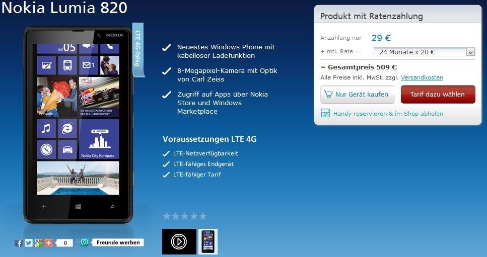 Nokia Lumia 820 O2