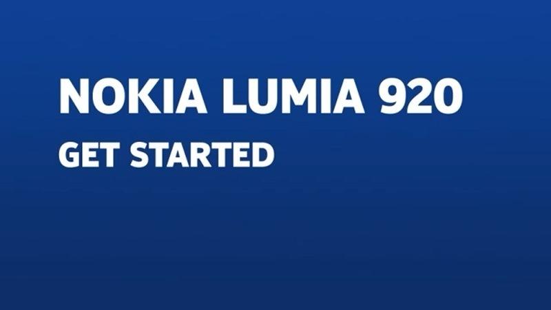Screenshot Nokia Lumia Get Started