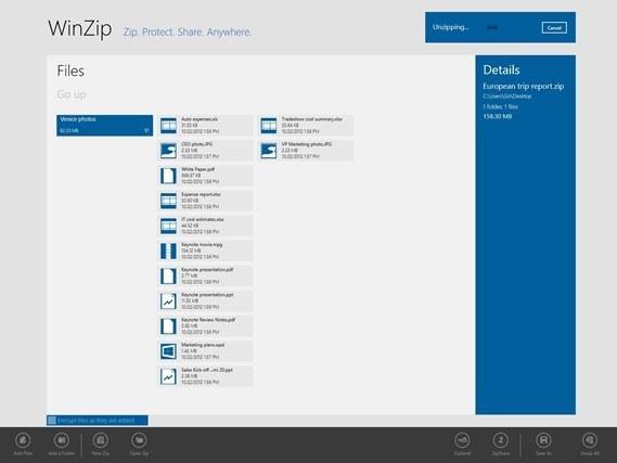 Windows 8: WinZip App ab sofort im Windows Store verfügbar