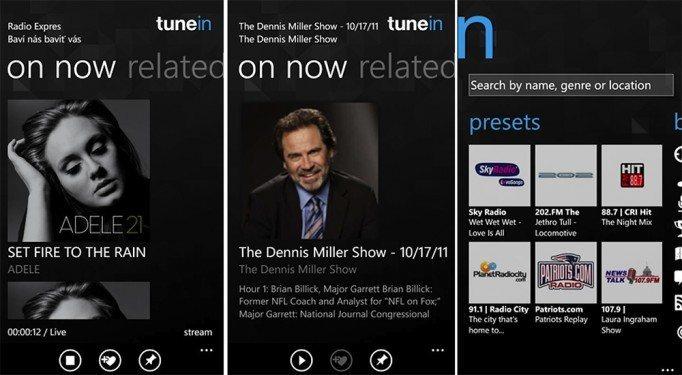 Tunein Radio hat ein Update erhalten, jetzt auch für Windows Phone 8 verfügbar