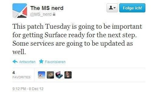 Gerücht: Microsoft Surface erhält am kommenden Dienstag wichtige Updates