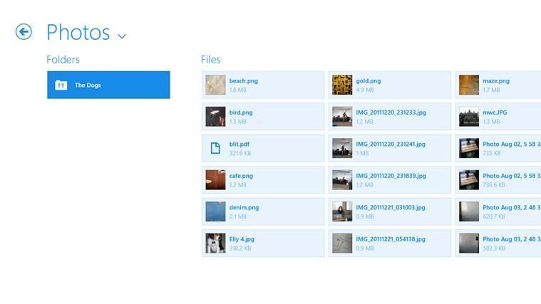 Dropbox Win8 - Screenshot