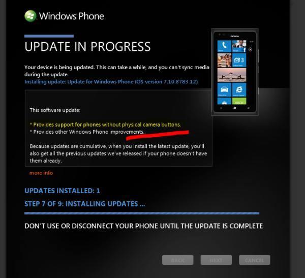 Windows Phone 7.8 Zune