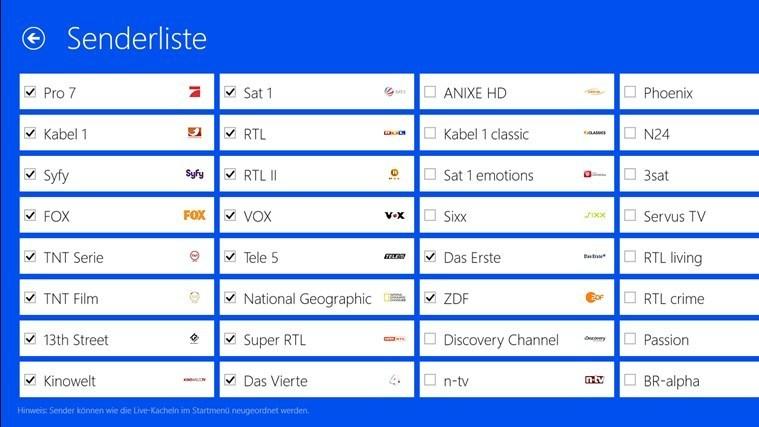 App-Tipp: TV-Programm für Windows 8/RT