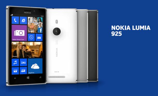 Nokia Lumia 925 Vorder- & Rückseite 2