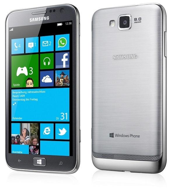 Samsung ATIV S (Front- und Rückansicht)