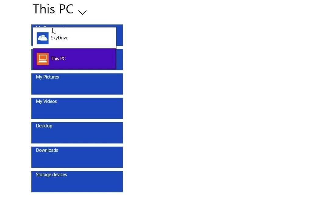 Windows 8.1 files app