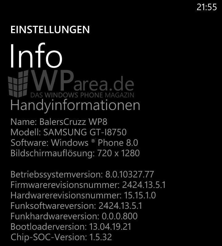 Samsung ATIV S Nach GDR 2 Update