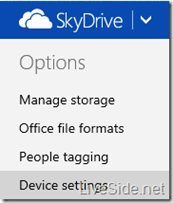 SkyDrive Backup Einstellungen liveside