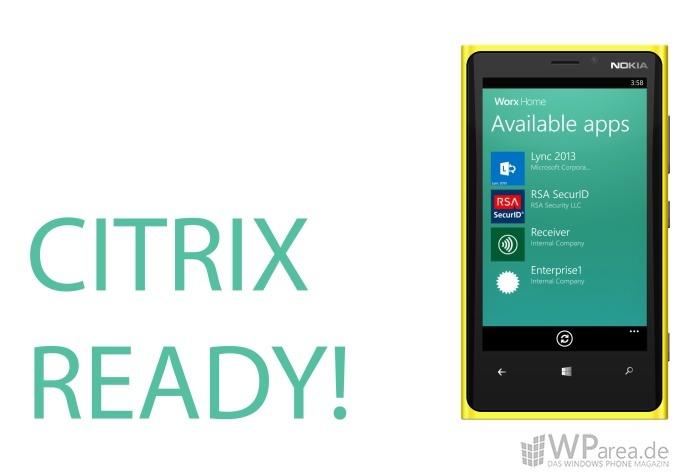 Citrix: XenMobile unterstützt Windows Phone 8, Receiver erscheint Anfang August im Windows Phone Store