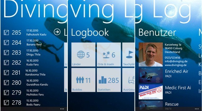 Diving-Log-Titel