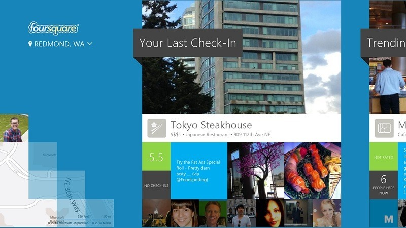 Foursquare Windows 8 - Screenshot