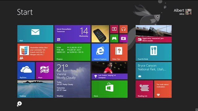 Windows 8.1 Homescreen