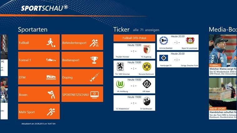 Sportschau Win 8 - Screenshot