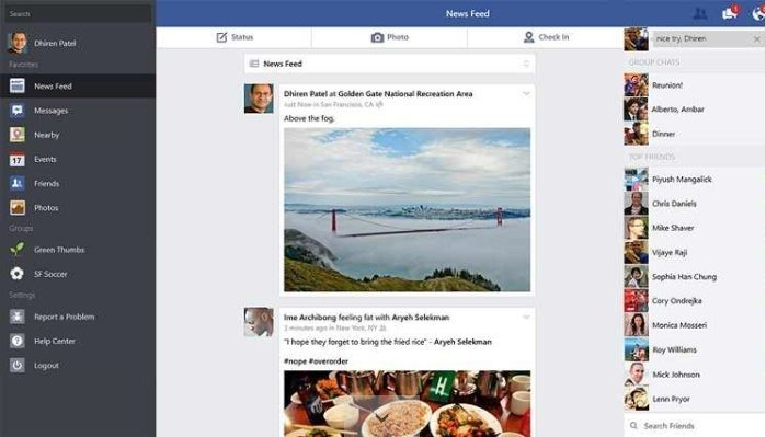 Facebook Win 8.1 - Screenshot