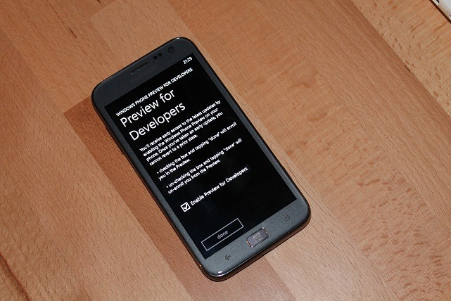 Windows Phone Developer Preview Update 3
