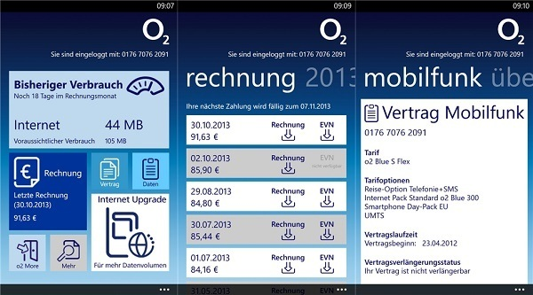 mein o2 app jetzt f r windows phone 8 erh ltlich. Black Bedroom Furniture Sets. Home Design Ideas