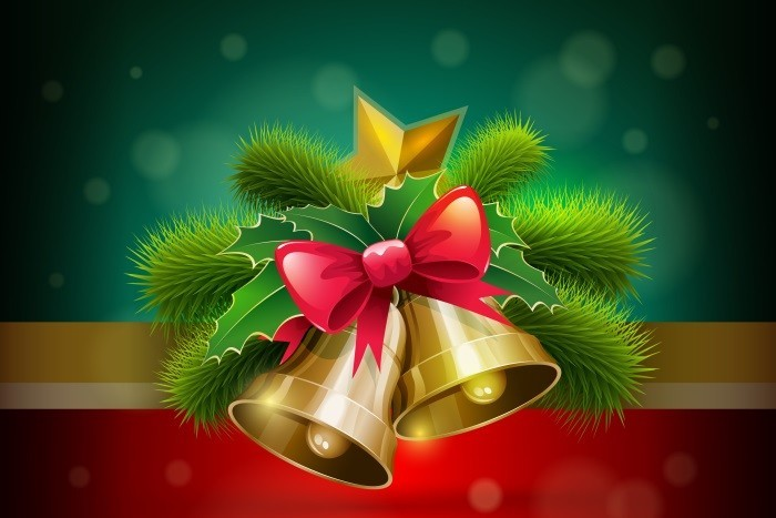 Christmas vector illustration. Elements are layered separately in vector file.
