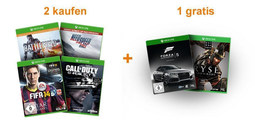 deal 2 xbox one games bestellen und 1 weiteres game. Black Bedroom Furniture Sets. Home Design Ideas