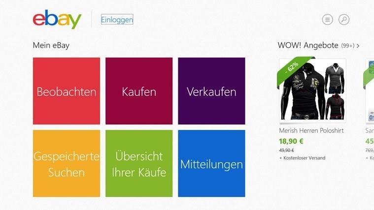 eBay-App für Windows stellt heute ihren Dienst ein