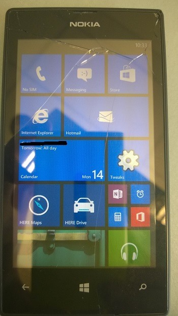Lumia 520 Interop Unlock dritte Live-Tile Spalte