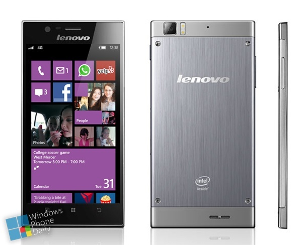 Mockup eines Windows Phones von Lenovo