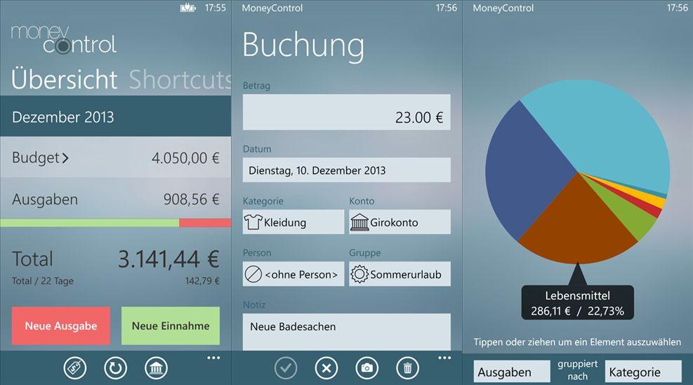 App Tipp: MoneyControl für Windows Phone 8 & Windows 8/RT