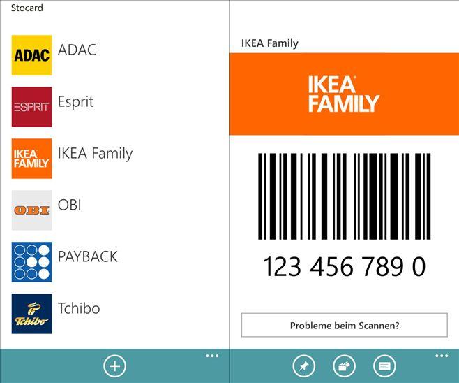 stocard mobile pocket f r windows phone alle kundenkarten in einer app. Black Bedroom Furniture Sets. Home Design Ideas