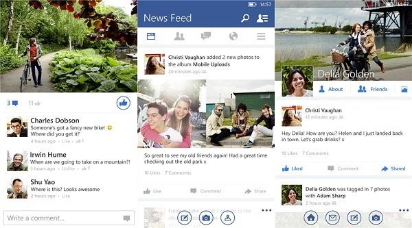 Facebook Beta mit besserem Design und neuen Einstellungen unter Windows 10 Mobile