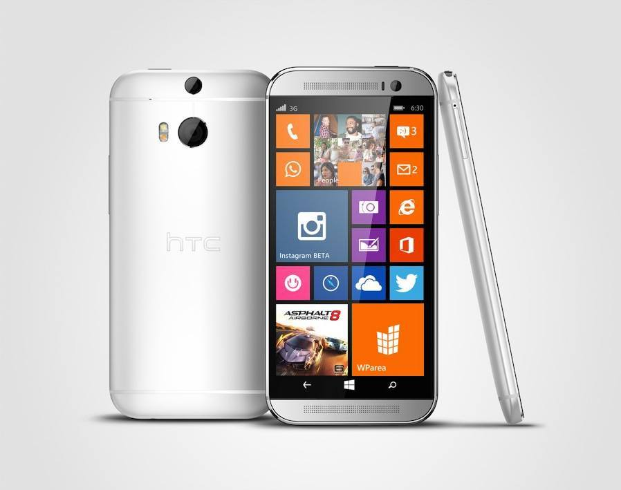 HTC One M8 Silver Windows Phone 8.1 WParea.de