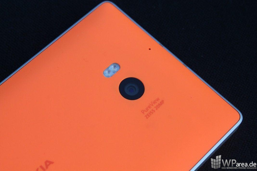 Nokia Lumia 930 Rückseite Kamera back camera orange