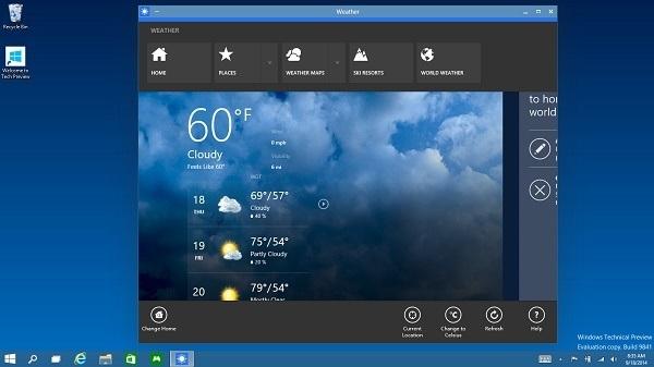 Apps im Fenstermodus