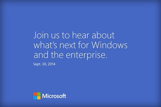 Microsoft is sending out invitations for a Press Event on September 30th