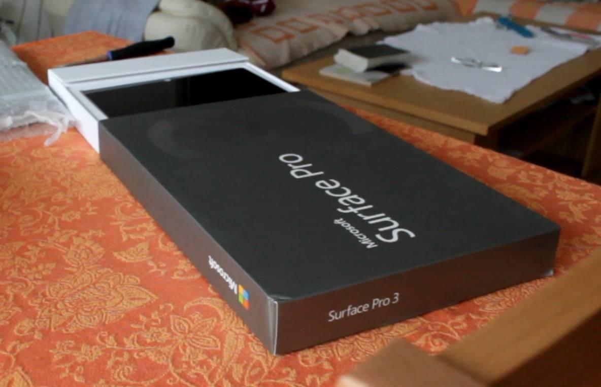 Surface Pro 3 ausgepackt