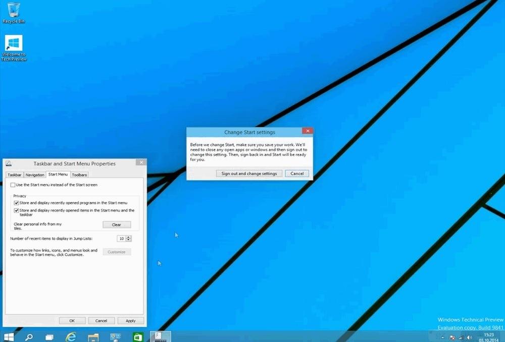 Windows 10 Metro-Start