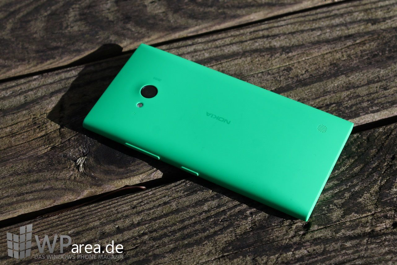 Lumia Lumia 735 grün green review back 2