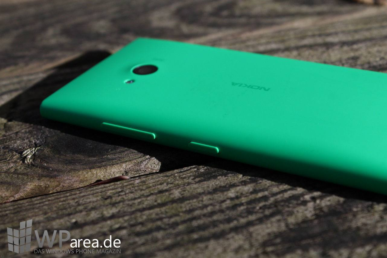 Lumia Lumia 735 grün green review back seite side