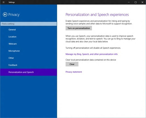 Privacy Windows 10 Leak Build 9901