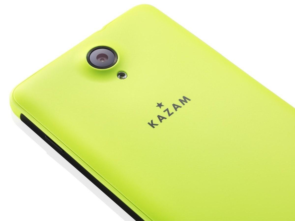 KAZAM Windows Phone Thunder 450W 450WL back yellow gelb