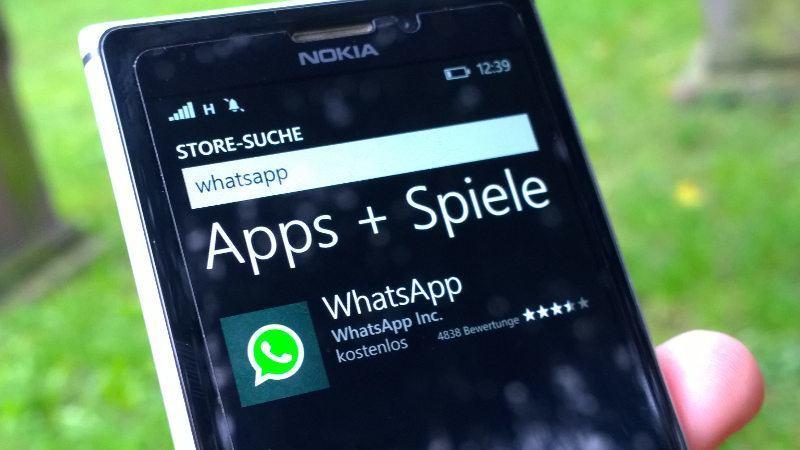 WhatsApp für Windows Phone: Der alte Status ist zurück