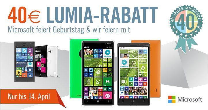 Lumia Rabatt Cyberport 40 Jahre Microsoft
