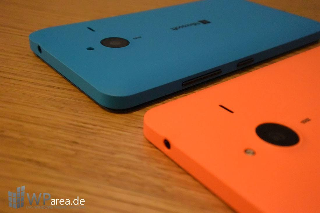 Microsoft Lumia 640 Hands-On rückseite back orange blau