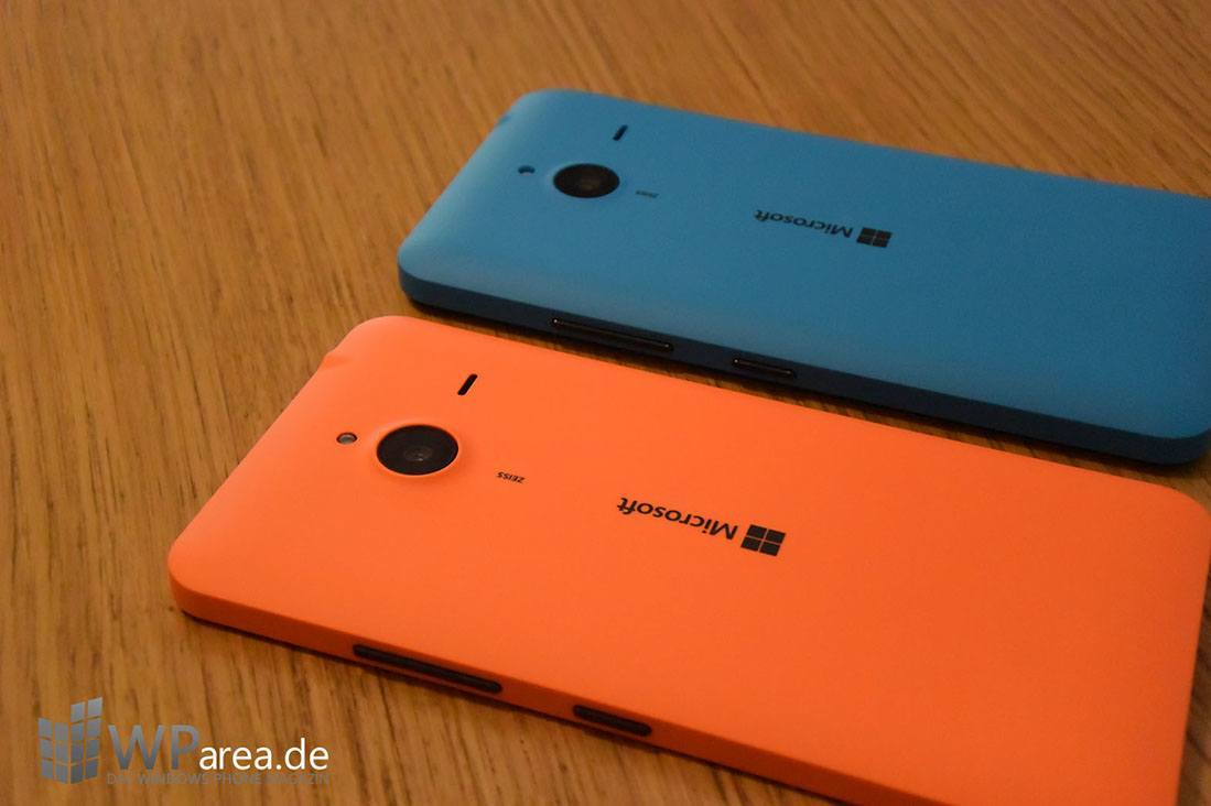 Microsoft Lumia 640 Hands-On rückseite back side seite orange blau
