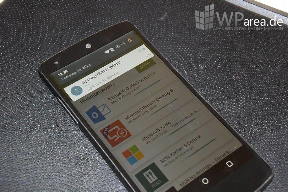 Nexus 5 CyanogenMod Cyanogen Microsoft Apps Android Lolipop