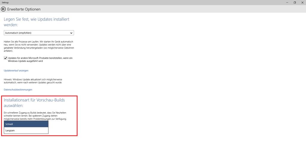 Windows 10: Schnell oder Langsam