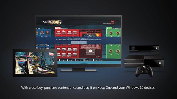 Windows 10 cross-plattform xbox one kauf purchase universal app